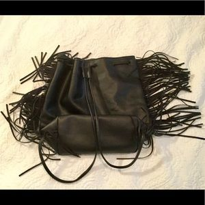 Victoria's Secret Bags - NWOT VICTORIA SECRET LEATHER FRINGE BACKPACK